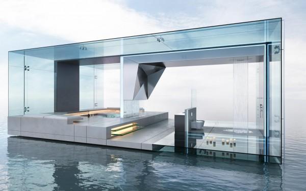 Fontaneros en Madrid instalamos baños modernos de lujo acristalados