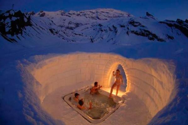 jacuzzi polar en la nieve fontaneros en madrid